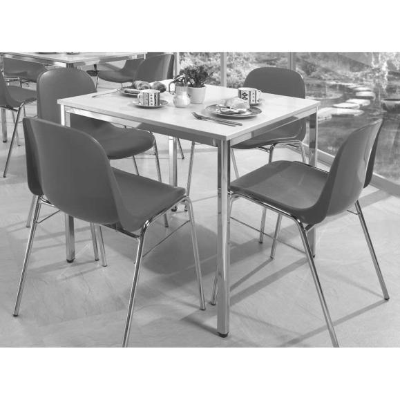 SET, 1 Tisch, 4 Stühle blau