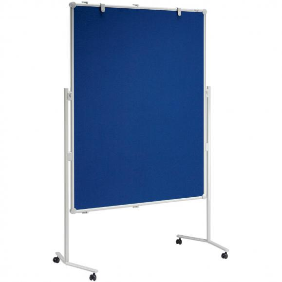 Presentatiebord PROFESSIONELL incl. set toebehoren textiel blauw - tweezijdig | enkelvoudig