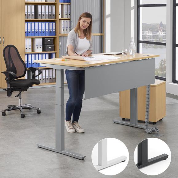 Zit-/sta bureautafels MULTI M pro - hoogte 650-1250 mm