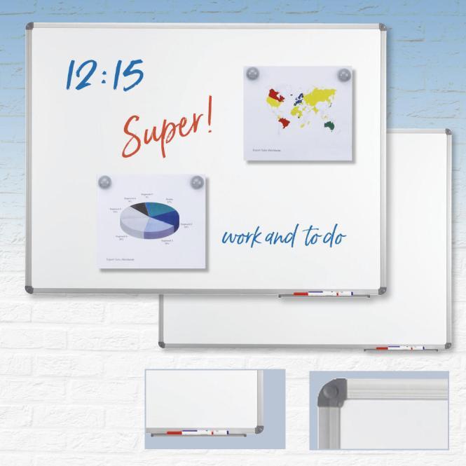 Wit magneetbord standaard